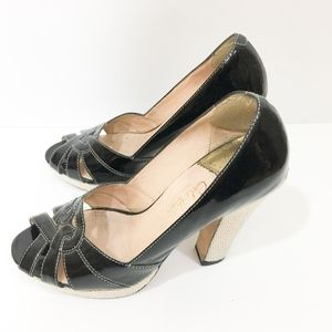 Cole Haan Nike Lab Patent Leather w Natural heel